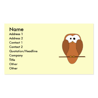 Cute Brown Owl Business Cards