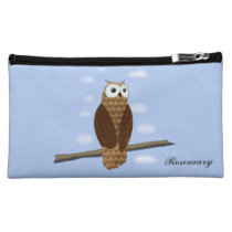 Cute Brown Owl Cute Brown Owl Medium Cosmetic Bag at Zazzle