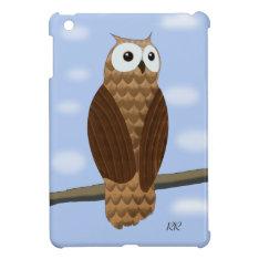 Cute Brown Owl In Blue Sky Ipad Mini Ipad Mini Cases at Zazzle