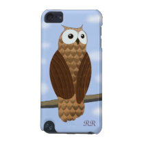 Cute Brown Owl in Blue Sky iPod Touch 5G Case