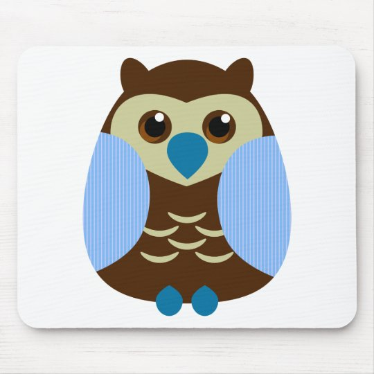 Cute Brown Owl Mouse Pad