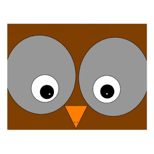 Cute Brown Owl Post Card