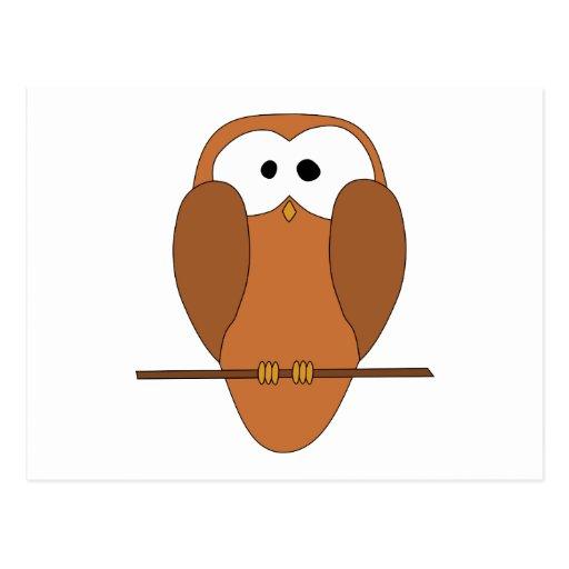 Cute Brown Owl Postcard
