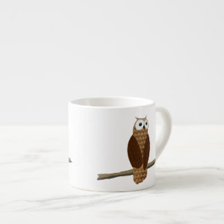 Cute Brown Owl Specialty Expresso Cup