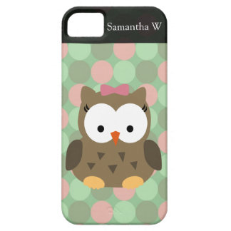 Cute Brown Owl w/Pink Bow iPhone SE/5/5s Case