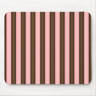 cute brown & pink striped mouse pad
