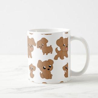 Cute Brown Puppies Coffee Mug