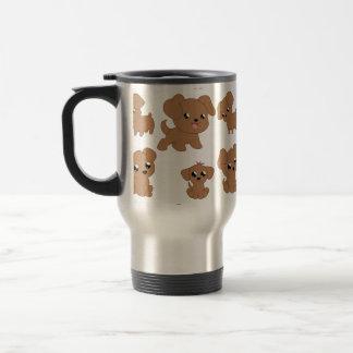 Cute Brown Puppies Travel Mug
