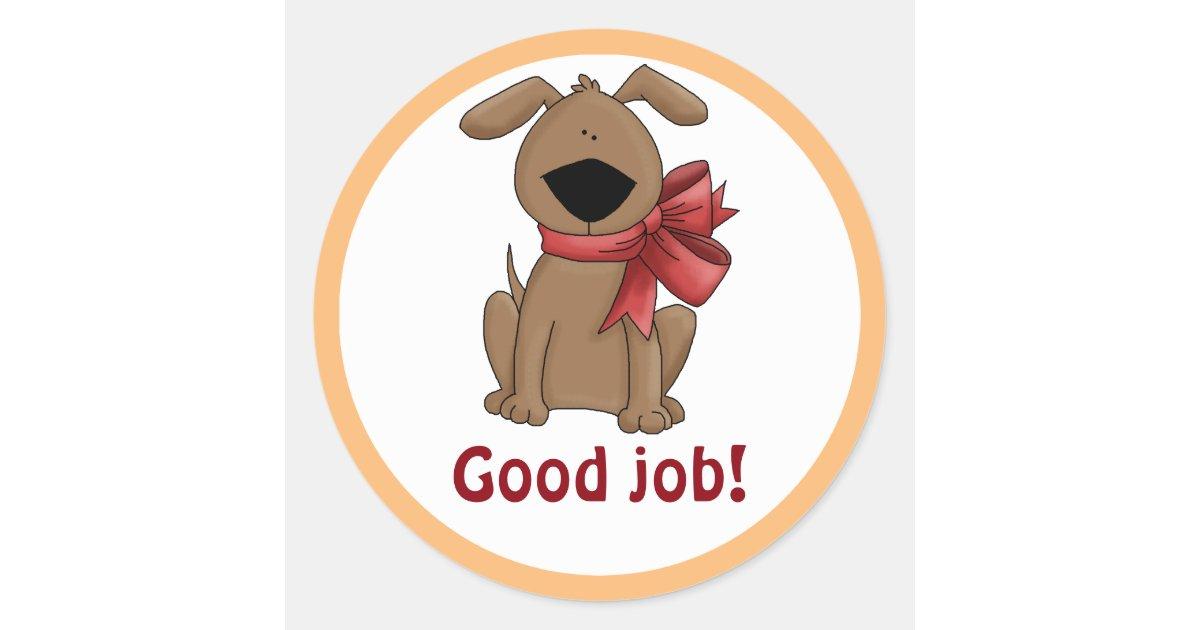 Cute Brown Puppy Dog Personalized Good Job Reward Classic
