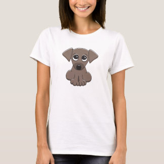 Cute brown puppy dog with big begging eyes T-Shirt