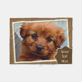 Cute Brown Puppy Photography Print Fleece Blanket