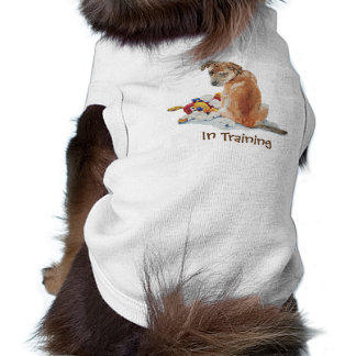 Cute brown puppy with teddy bear in training T-Shirt