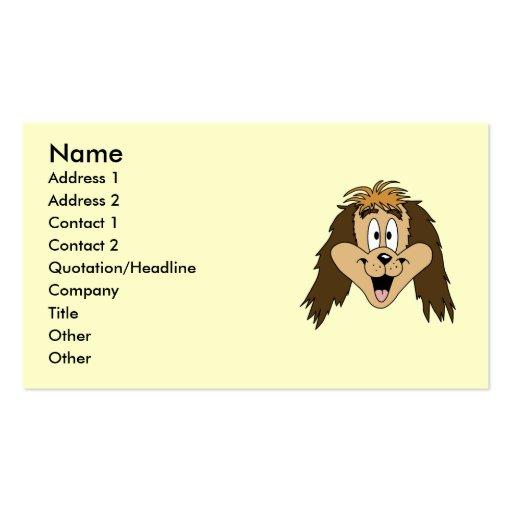 Cute Brown Shaggy Dog. Business Card Templates