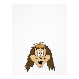 Cute Brown Shaggy Dog. Full Color Flyer