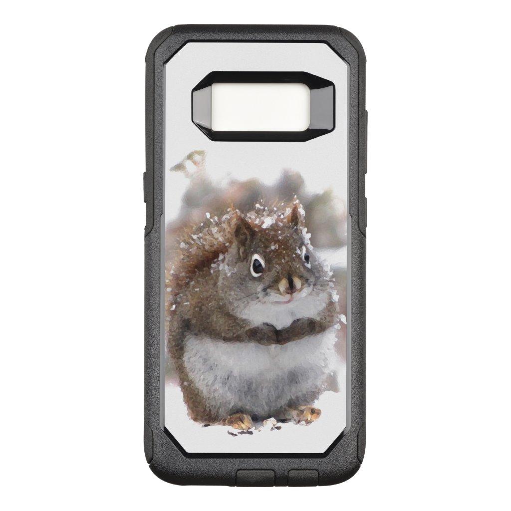 Cute Brown Squirrel OtterBox Galaxy S8 Case