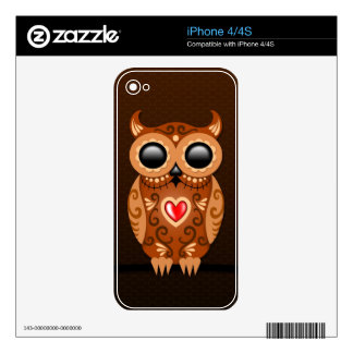 Cute Brown Sugar Owl Skin For The iPhone 4S
