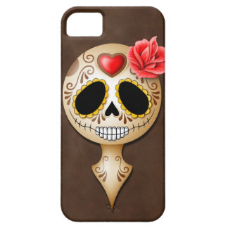 Cute Brown Sugar Skull Case For The iPhone 5