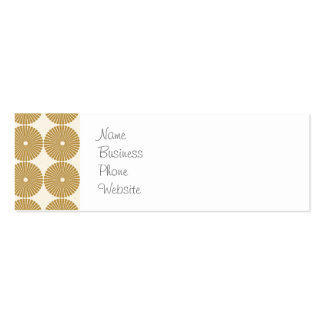 Cute Brown Tan Circles Disks Poker Chips Pattern Business Cards