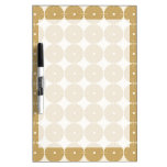 Cute Brown Tan Circles Disks Poker Chips Pattern Dry-Erase Whiteboards