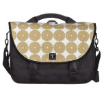 Cute Brown Tan Circles Disks Poker Chips Pattern Commuter Bags
