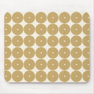 Cute Brown Tan Circles Disks Poker Chips Pattern Mouse Pad