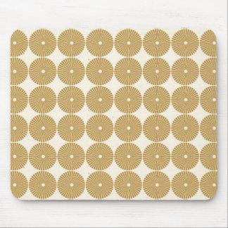 Cute Brown Tan Circles Disks Poker Chips Pattern Mouse Pad