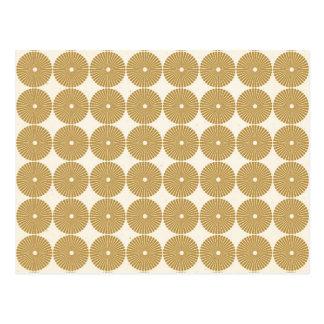 Cute Brown Tan Circles Disks Poker Chips Pattern Postcard