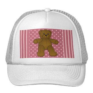 Cute brown teddy bear trucker hat