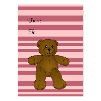 Cute brown teddy bear large business card