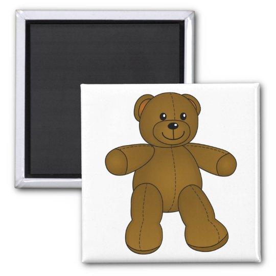 Cute brown teddy bear magnet