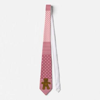 Cute brown teddy bear neck tie