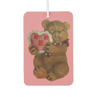 Cute Bear With Heart Pillow : Teddy Bears Car Air Fresheners Zazzle