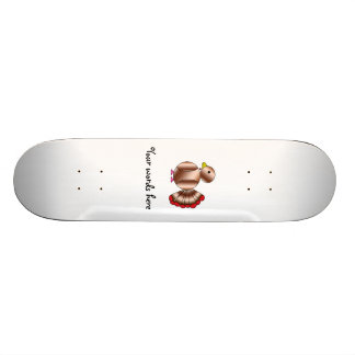 Cute brown turkey skate board