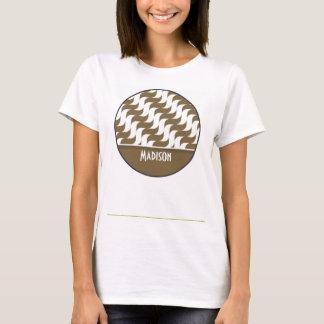 Cute Brown Wave; Retro T-Shirt