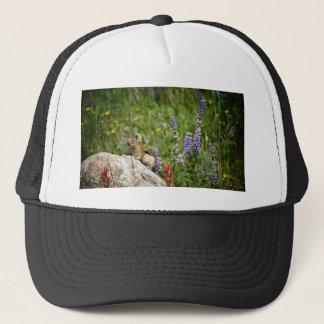 Cute Brown White Chipmunk Trucker Hat