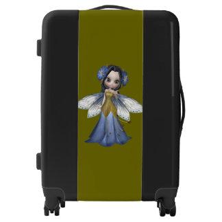 Cute Brunette Fairy Princess Medium Sized Luggage