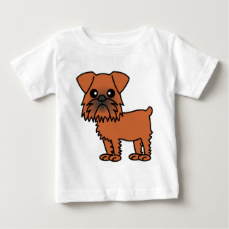 Cute Brussels Griffon Cartoon Baby T-Shirt
