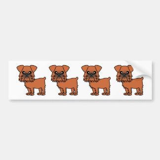 Cute Brussels Griffon Cartoon Bumper Sticker