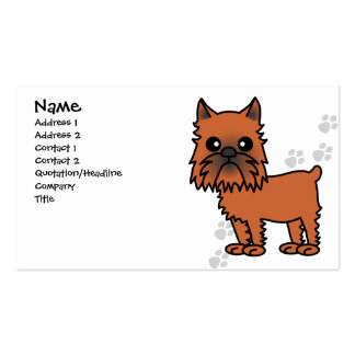 Cute Brussels Griffon Cartoon - Clipped Ears Business Cards