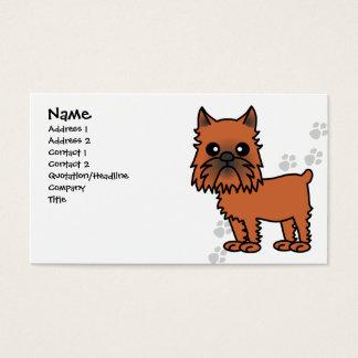 Cute Brussels Griffon Cartoon - Clipped Ears Business Card