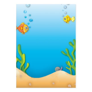 cute bubble fish underwater scene large business card