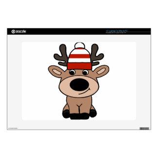 """Cute Buck Deer Wearing a Hat Skin For 15"""" Laptop"""