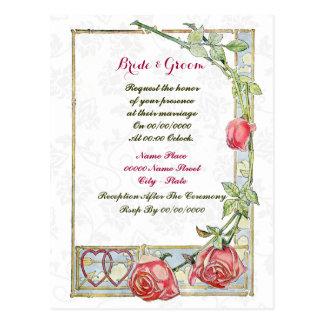 cute budget wedding  invitation, postcard