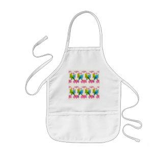 Cute budgie bird apron for kids