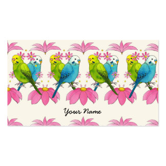 Cute budgie bussiness card