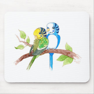Cute budgies mouse pad
