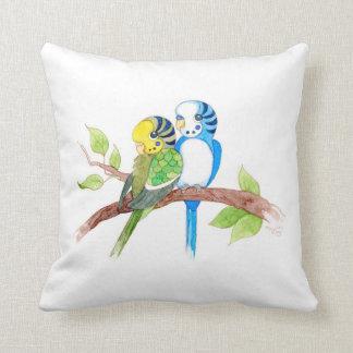 Cute budgies pillow