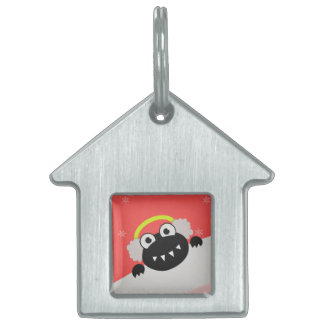 Cute Bug With Earflaps Winter Pet Tag
