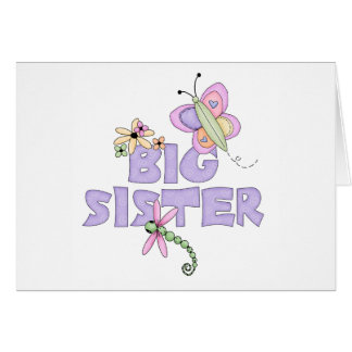 Cute Bugs Big Sister Card