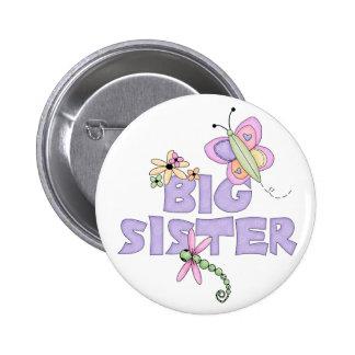Cute Bugs Big Sister Pinback Button